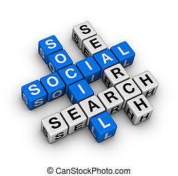 zoeken, sociaal