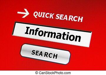 zoeken, voor, informatie