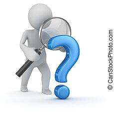 zoeken, vraagteken