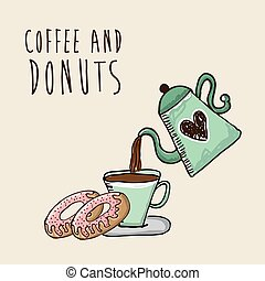 zoet, donuts, ontwerp