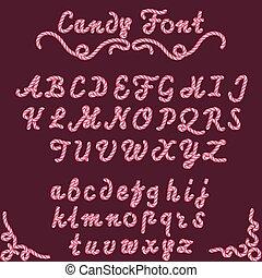 zoet, lettertype, type, versuikeren