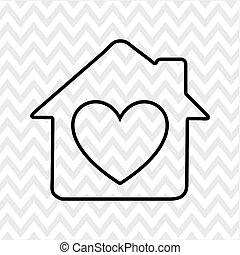 zoet, ontwerp, thuis