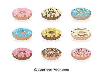 zoet, set., donuts
