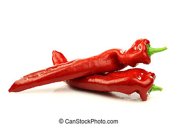 zoet, spaanse pepers, (capsicum)