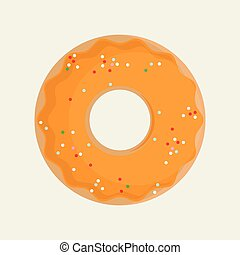 zoet, vector, donuts