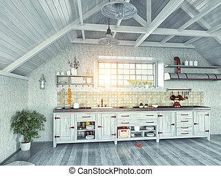 zoldertjes, keuken