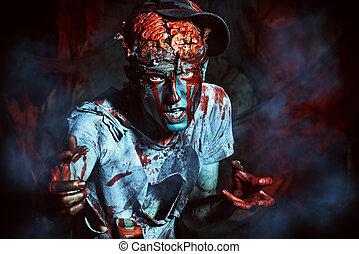 zombi, attaqué