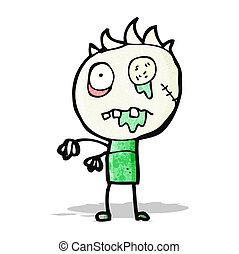 zombi, caricatura