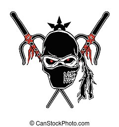 zombi, dessin animé, ninja, figure