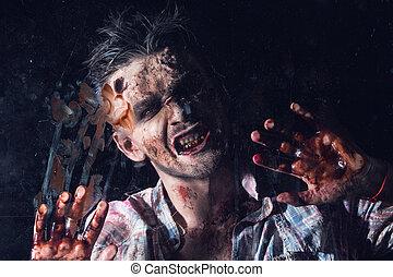zombi, effrayant, cosplay