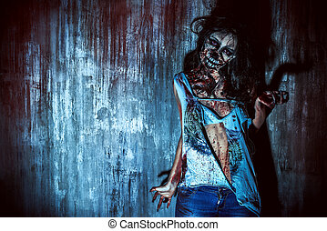 zombi, femme