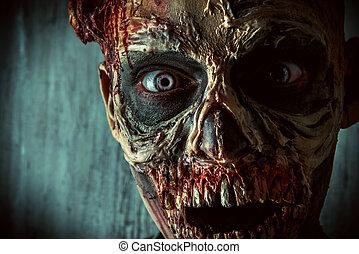 zombi, gros plan