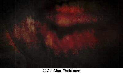 zombi, horreur, bouche