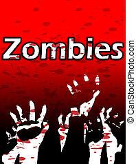 zombi, manos