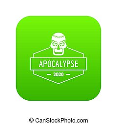 zombi, monstre vert, icône