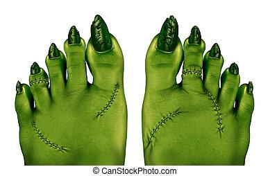 zombi, pieds