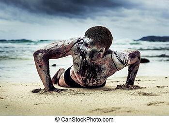 zombi, playa