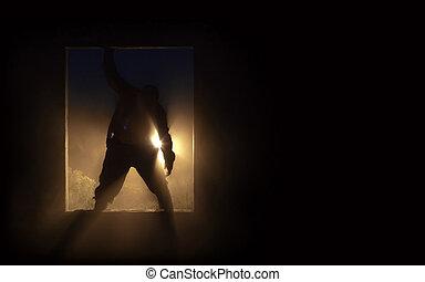 zombi, silhouette