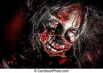 zombi, yeux