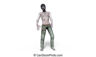 Zombie - 3D CG rendering of a zombie
