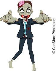 zombie, affärsman