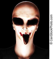 Zombie Alien  - Hideous looking alien that is also a zombie.
