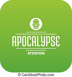 Zombie apocalypse icon green vector