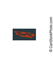 Zombie apocalypse lettering