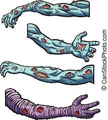 Zombie arms - Cartoon zombie arms. Vector clip art...