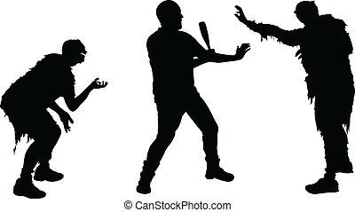 zombie, ataque