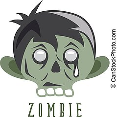 zombie cartoon face abstract vector design template