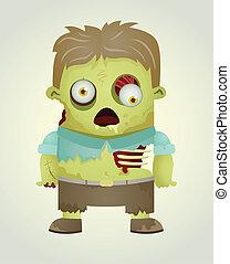 Zombie Character - Cartoon Character