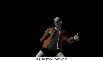 Zombie creepy dancing