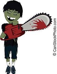 zombie, dreng, forbavselse