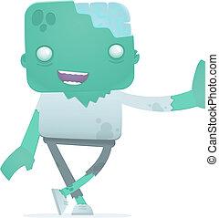 zombie, engraçado, caricatura