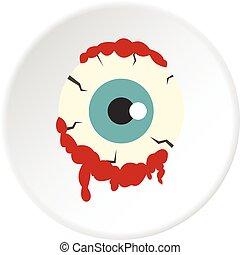 Zombie eyeball icon circle