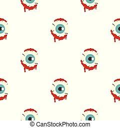 Zombie eyeball pattern seamless