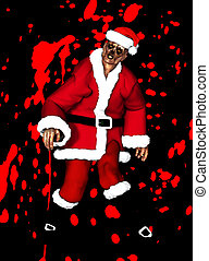 Zombie Father Christmas - A festive Zombie for the Christmas...