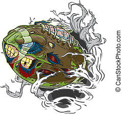 Zombie Football Ripping Out - A Zombie Football Ripping out ...