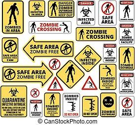 Zombie - Funny Zombie Apocalypse Signs, Symbols and...