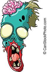 zombie, głowa