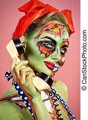 zombie, glamorös