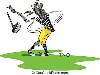 zombie, golfista