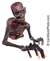 3D Render of an Zombie