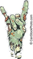 Zombie Hand On White