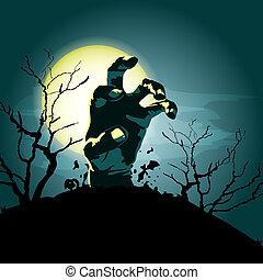 zombie hand vector background