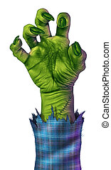 Zombie Hand - Zombie hand reaching to grab something or...