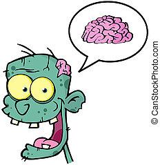 Zombie Head And Speech Bubble
