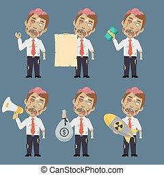 Zombie Holds Bomb Paper Money Megaphone