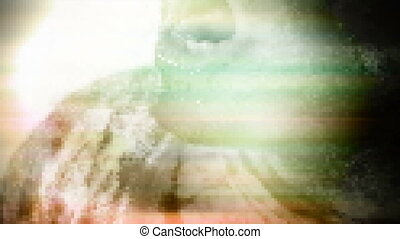Zombie horror camera artifacts green hue - Horror Zombie...